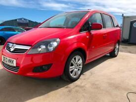 13 Vauxhall Zafira 1.6i 16v VVT ( 115ps ) Design NAV 20,000 Miles