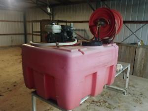 Silvan 400 litre tank sprayer with honda motor and hose reel