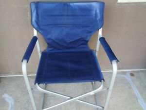 """Folding blue chair just $10. Approximately 20"""" W. Check out my o"""