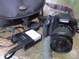 Canon T3i with 18-55mm. kit lens like new