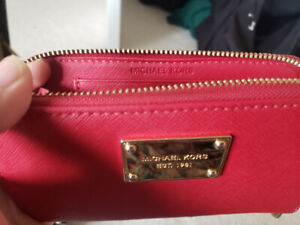 Michael Kors red leather wallet for $50 cash
