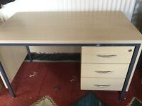Large 3 drawer work desk