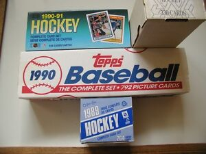 COMPLETE SETS HOCKEY, BASEBALL, ETC CARDS