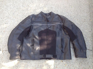 Leather vented mesh riding jacket size 2XL $70