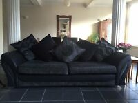 4 Seater Grey and Black Sofa for Sale in Reading