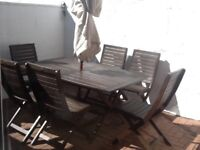 Garden/patio table and chairs