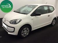 ONLY £94.56 PER MONTH WHITE 2014 VW UP 1.0 TAKE UP 3 DOOR PETROL MANUAL