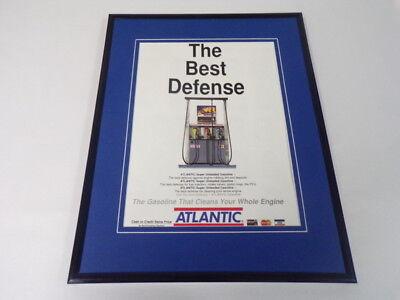 1989 Atlantic Gasoline 11x14 Framed ORIGINAL Vintage Advertisement