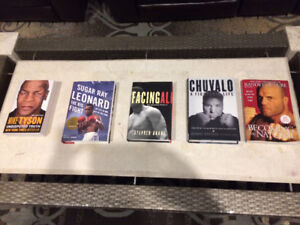 Boxing books and Randy Couture book