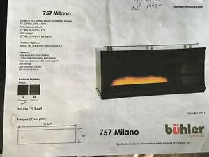 Buler TV/Fireplace Unit