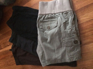 maternity tights and one pair of shorts