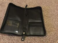 Black leather document holder. New lower price