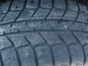 Four 195/55/15 SNOW TIRES on Winter Rims for sale