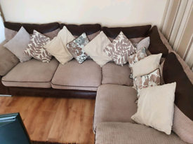 Corner couch and foot rest