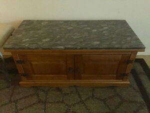 Pine Coffee Table with Granite top