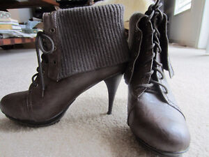 Size 9 Fashion Booties with cuff