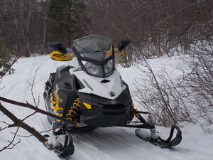 Two Ski-Doo MXZ ACE 600's With Double Mission Trailer