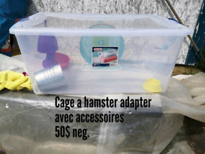 Cage adapter pour hamster
