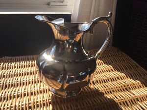 ANTIQUE Water pot - Silver plate and numbered