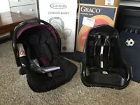 Graco Junior Baby Car Seat 0-12 months (0-13kg) and Autobaby belted base