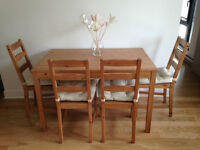 MOVING SALE - Table, bookcase, dresser, side tables.