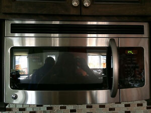 Stainless steel range and microwave