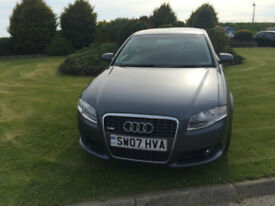 2007 07 Audi A4 2.0TDI 140 S Line Diesel Grey 5 Door MOT June 2019.