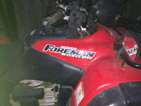 Honda Foreman Rubicon ATV TRX 500 with plow