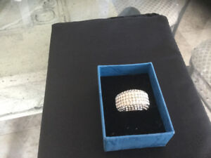 BN DIVANA silver clear and topaz crystalring