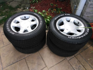 """Mustang Rims 15"""" with BFG Ta's"""