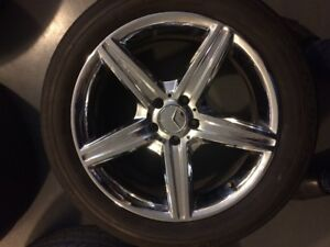 Chrome Mercedes Benz Replica Rims AMG ML320 2009 Bluetec