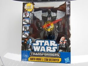 "Star Wars Transformers 12"" DARTH VADER-Star Destroyer: 4 in 1 Prince George British Columbia image 1"