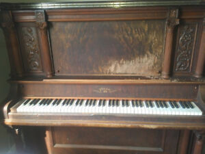 Antique Piano: Beautifully made in Guelph (1896).