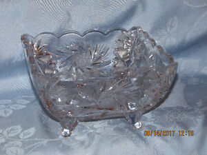 Pin Wheel Crystal Bowl