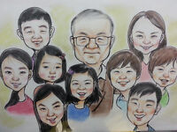 Caricatures art - Personalized special gift for your guests