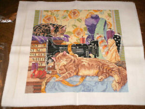 Cross Stitch Sewing Room Cats