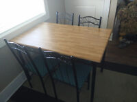 Small Wooden Dining Table with 4 Chairs - Great for Students