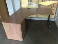 Sale sale sale executive directors corner desk pedestal and filing cabinet and divider. Delivery