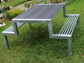 Picnic table, bench, composite top, garden table
