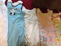 5 x sleeping bags 6-18 months