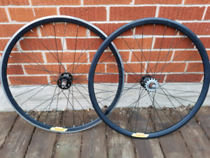 Velocity Deep-V Black Singlespeed/Fixie Wheelset