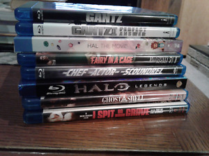 Blu ray DVDS - movies and TV series