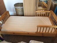 Wooden toddler bed and mattress £30 Plympton