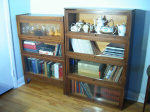 Barrister Walnut Bookcase 7 Sections