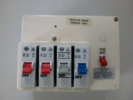 Wylex consumer unit 2 X B32 1 X B10 1 x b16