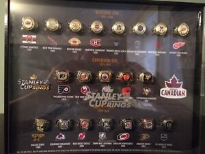 Molson Rings and 4 Autographed Pucks