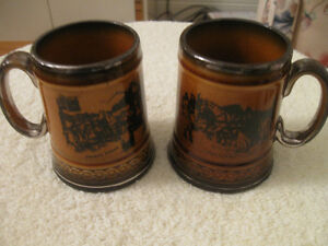 2 MATCHING COLLECTIBLE VINTAGE RIDGEWAY POTTERY MINI-JUGS