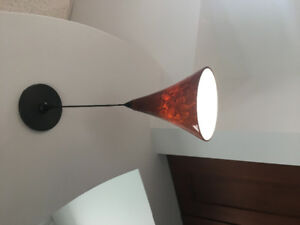 Modern Glass Pendant fire orange