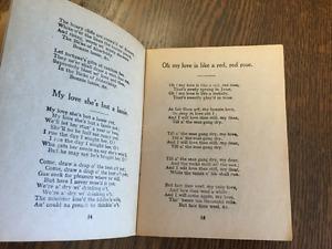 Antique Burns Song book - 1950s - Cambridge Kitchener Area image 2