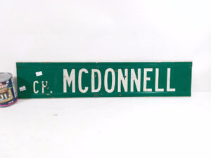 MCDONNELL Street Sign from Montreal
